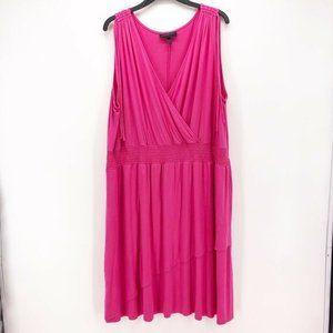 Lane Bryant Womens Dress Pink Sleeveless Sz 26/28